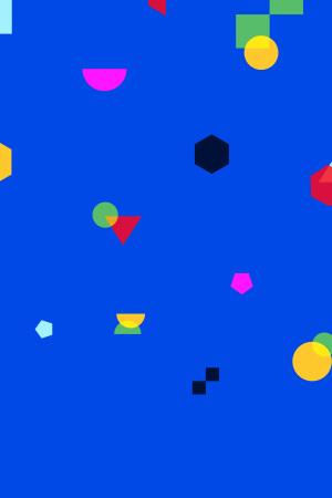 UI素材不规则面蓝色矢量背景