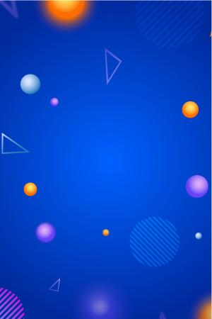 UI素材彩球蓝色矢量背景