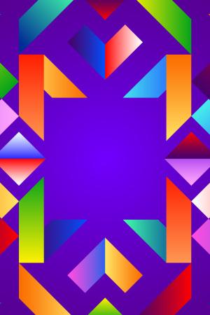 UI素材不规则紫色矢量背景