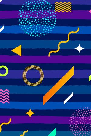 UI素材波浪线紫色矢量背景