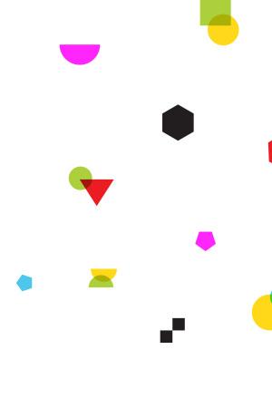 UI素材不规则几何图形白色矢量背景