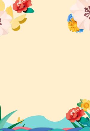 简约清新花朵图案背景