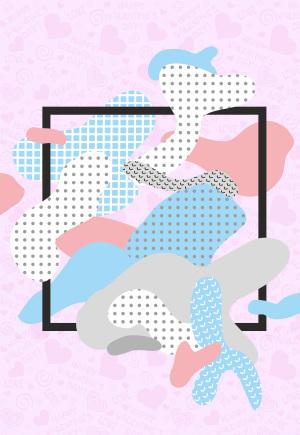 粉色几何图案背景