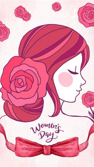 粉色系38女神节妇女节