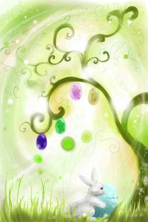 关于复活节的清新风格图片