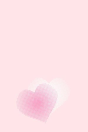 粉色爱心表白纯色背景