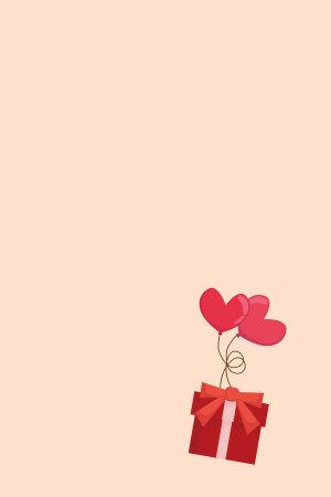 粉色爱心气球红色礼盒飞舞520表白背景