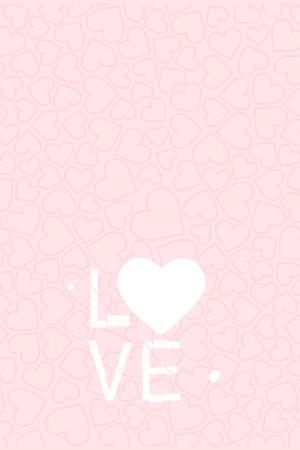 粉色爱心底纹LOVE520表白告白背景