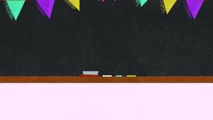 学校教室黑板板报标语背景