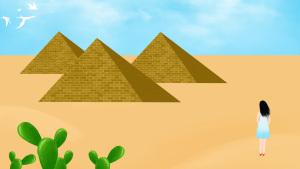 埃及金字塔仙人掌沙漠