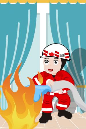 消防员背景图片可用作宣传