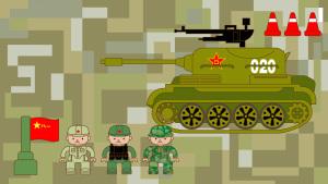卡通Q版八一建军节