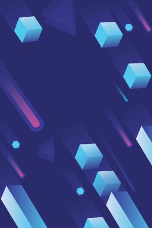 立体3D现代蓝色背景