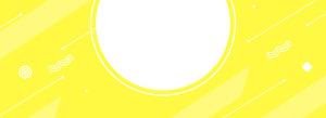 柠檬黄色banner背景图
