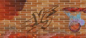 涂鸦篮球比赛banner背景