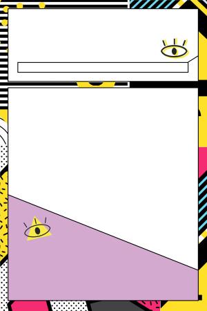 波普风几何图案彩色底纹pop海报