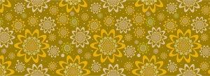 复古黄色花朵图案背景