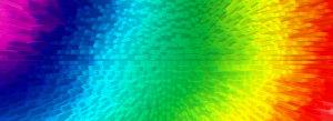 彩色渐变3D立体放射柱体背景