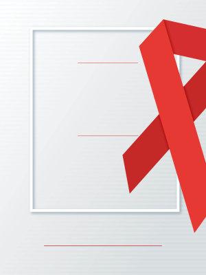 世界艾滋日广告背景
