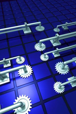 C4D建模渲染 机械 海报背景 DM单页