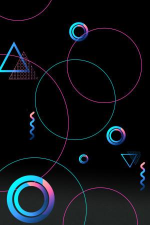 线条几何图形电商风背景