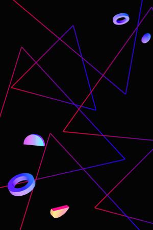 渐变线条几何电商风酷炫背景