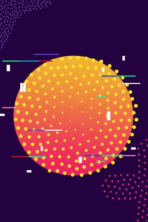 酷炫个性扁平几何不规则图形背景