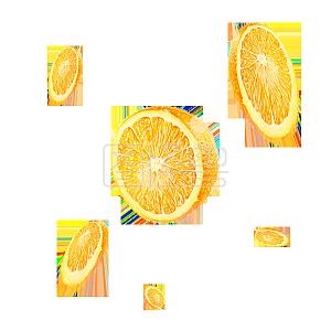 水果橙子切片漂浮底纹