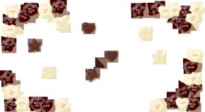 唯美精美情人节巧克力边框爱心嘴唇星星