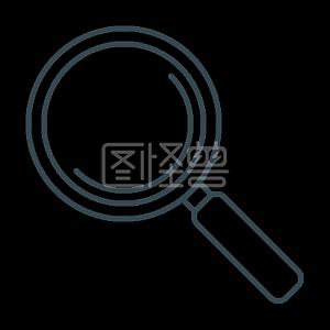 放大镜放大搜索SEO变焦搜索引擎优化和开发的细线图标