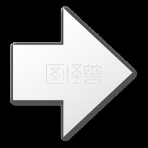 白色的右箭头符号图标