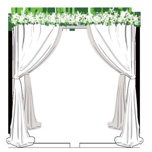 婚礼 白色拱门