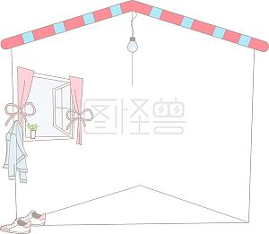 粉色房屋边框