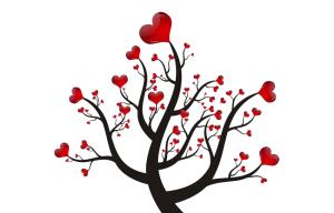 爱情 爱心 爱心矢量素材 爱心树