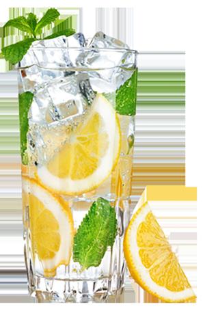 冰柠檬果汁冷饮薄荷叶夏季