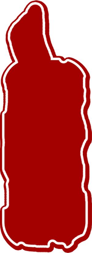 红底白边装饰