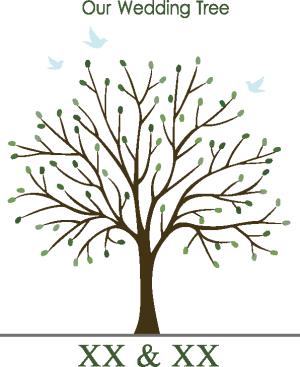 婚礼树矢量图
