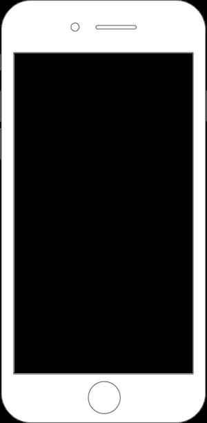iPhone手机苹果手机简单手绘线条边框手机dm