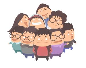 扁平化卡通团队