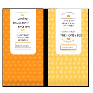 矢量蜂蜜包装设计