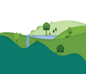 扁平化绿色的山坡