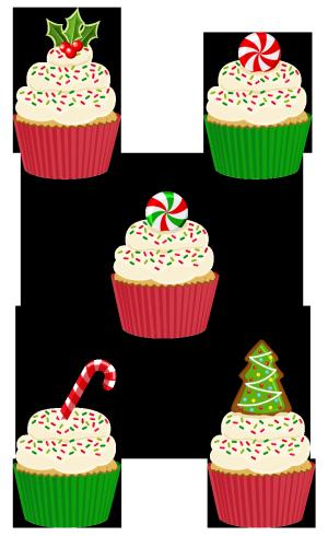 圣诞杯子蛋糕
