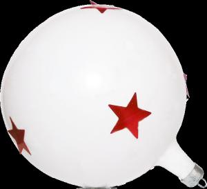 白色圣诞彩球