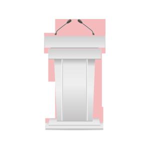白色的演讲台图片