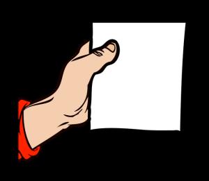 矢量 卡通手绘 手 白纸