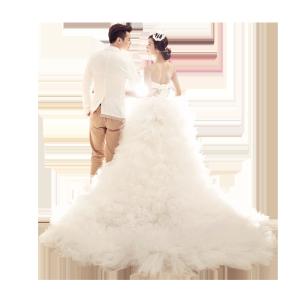 结婚的新人背景