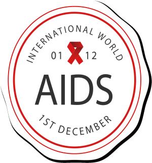 世界艾滋病日标签