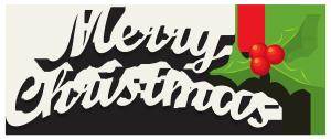 白色圣诞字体