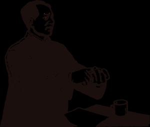 毛泽东黑色木刻版画