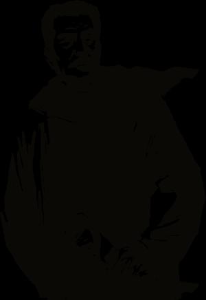 鲁迅黑色版画